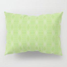 hopscotch-hex bright green Pillow Sham