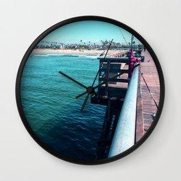 Seal Beach Pier Wall Clock