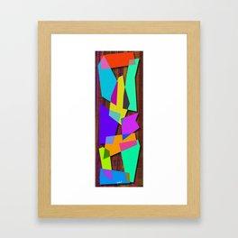 Sharp Shapes texture Framed Art Print
