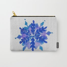 WATERCOLOR SNOWFLAKE 4 - blue and purple palette Carry-All Pouch