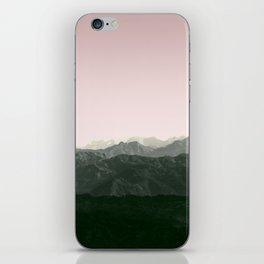 Mountains | Green + Pink iPhone Skin