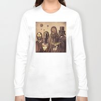 robots Long Sleeve T-shirts featuring Victorian Wars  by Terry Fan