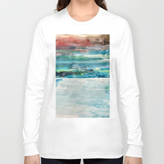 Miami Beach Watercolor #5 Long Sleeve T-shirt