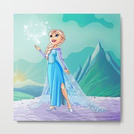Elsa from Frozen Metal Print