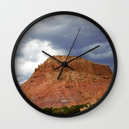Buttes of New Mexico - On the Road to Santa Fe, No. 4 Wall Clock