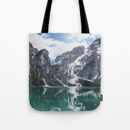 Mountain Lake Panorama // Landscape Photography Tote Bag