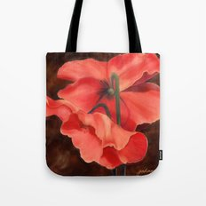 Red Poppy Three Tote Bag