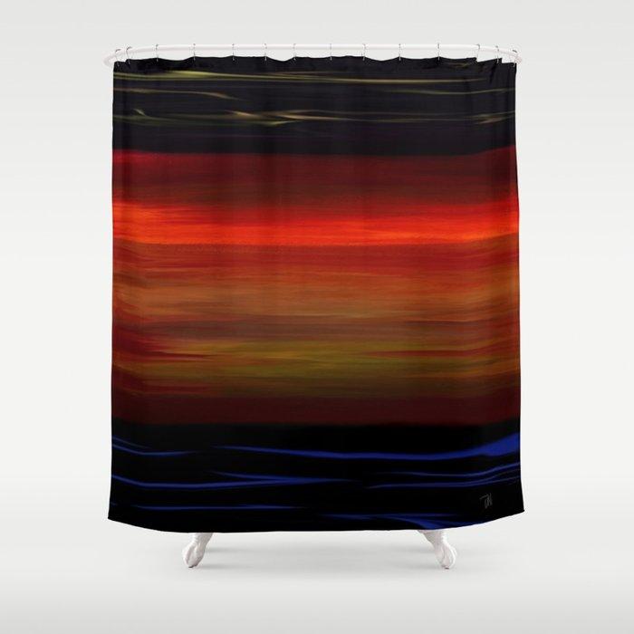 The Brilliant Ocean Sunset Seascape Shower Curtain