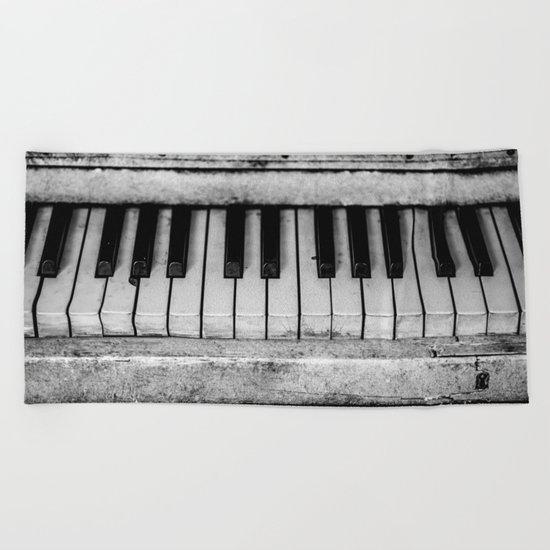 The piano Beach Towel