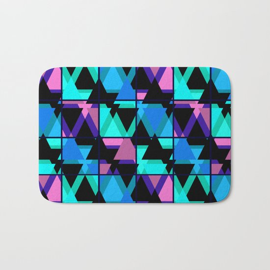 Colorful triangles . No. 1 Bath Mat