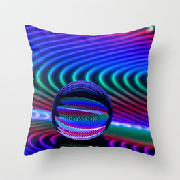 Colours in the glass Throw Pillow