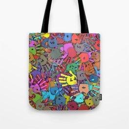 Color handprints Tote Bag