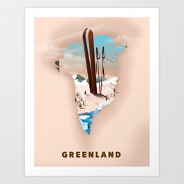 Greenland Art Print