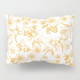 Aesthetic and simple bees pattern Pillow Sham