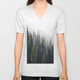 FADED NORTHWESTERN PINES SHIRT OPTIONS Unisex V-Neck