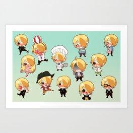 Sanji-kun Art Print