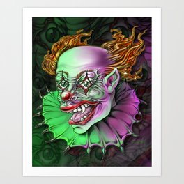 Evil Clown by Spano Art Print
