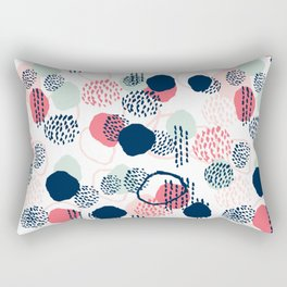 Orly - abstract painting minimal trendy girly gender neutral pattern decor Rectangular Pillow