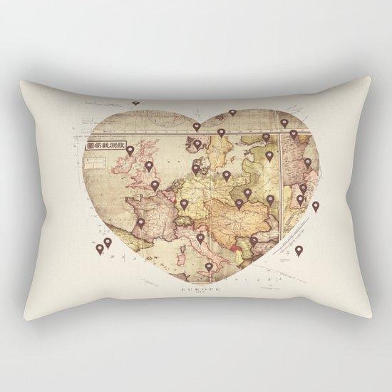 Love to Travel Rectangular Pillow