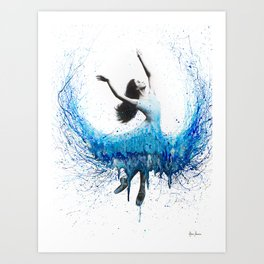 Blue Wave Dancer Art Print