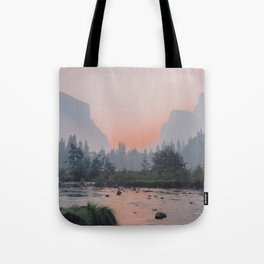 Yosemite Valley Sunrise Pretty Pink Tote Bag