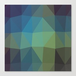 Shades of Turquoise Triangle Abstract Canvas Print