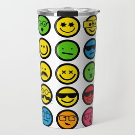 Emotional Emoticon Set Travel Mug