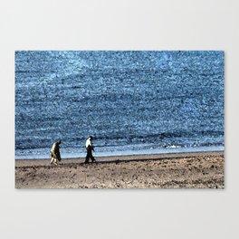 Silvery Sea Canvas Print