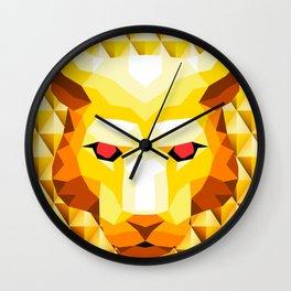 Lion Trophy Mountain Wall Clock