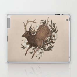Floral Elk Laptop & iPad Skin