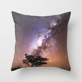 Milky Way Stars South Western Tree Throw Pillow
