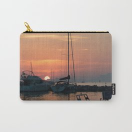 Sunset in a little port in French Riviera Carry-All Pouch