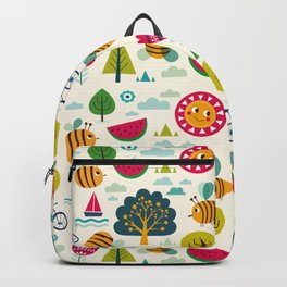 Summer and Bees Backpack