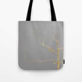 Kintsugi 3 #art #decor #buyart #japanese #gold #grey #kirovair #design Tote Bag