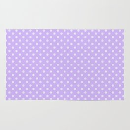 Purple background with polka dot Rug