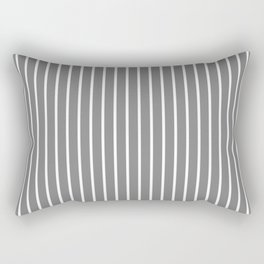 Vertical Lines (White/Gray) Rectangular Pillow