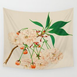 Fugen's Elephant Cherry Blossoms Wall Tapestry