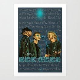 Bee Gee's Poster Kunstdrucke