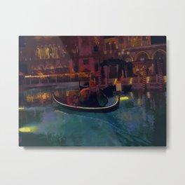 Venice Romantic Gondola Cruise Metal Print