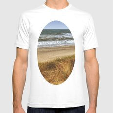 A Day at Hatteras MEDIUM Mens Fitted Tee White