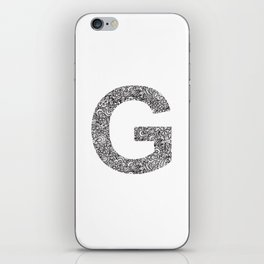 Letter G iPhone Skin