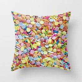 Rainbow Candy Sprinkles Art Throw Pillow