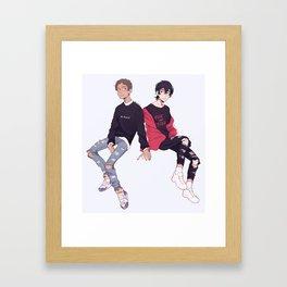 more klance lol Framed Art Print