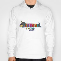 dachshund Hoodies featuring Dachshund by PINT GRAPHICS