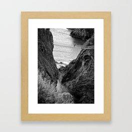 Carrick-a-Rede Rope Bridge, Co. Antrim. Framed Art Print