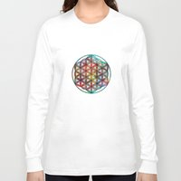 flower of life Long Sleeve T-shirts featuring Flower of Life by Klara Acel
