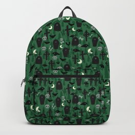 Scary Green Graveyard Backpack