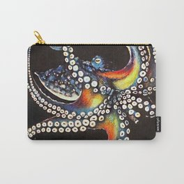Octopus drawing, pastel pencil Carry-All Pouch