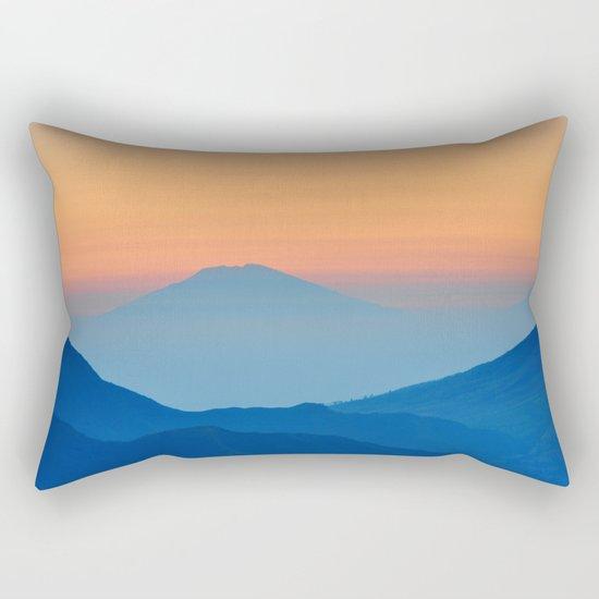 Orange Valley #mountains Rectangular Pillow