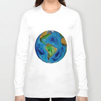 planet Long Sleeve T-shirts featuring Planet by Edison Tezolin